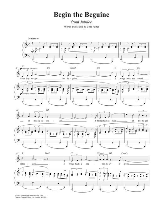 Begin The Beguine Sheet Music