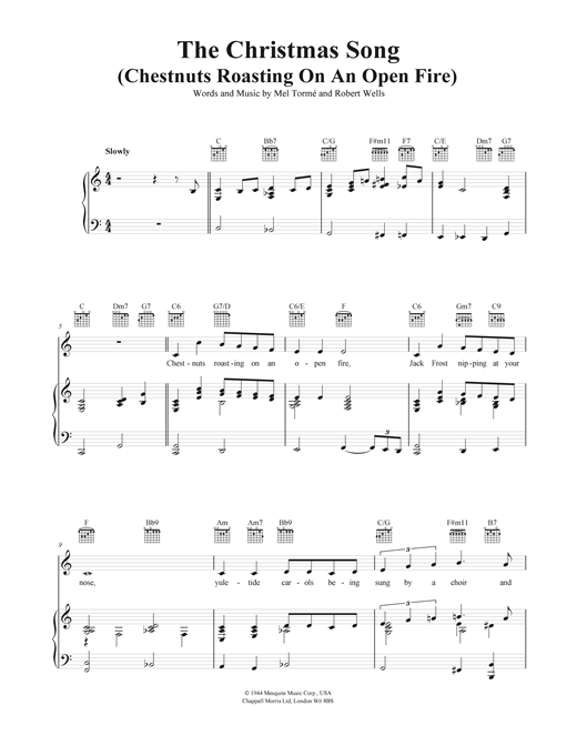 The Christmas Song (Chestnuts Roasting On An Open Fire) Sheet Music