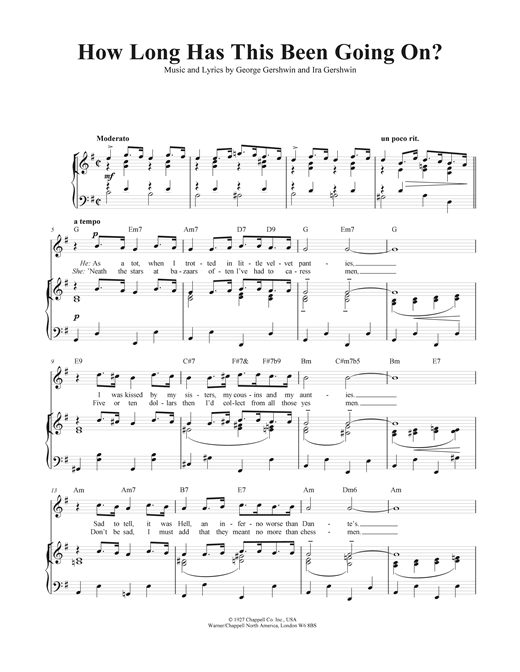 How Long Has This Been Going On? Sheet Music