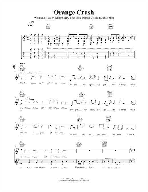 Orange Crush Sheet Music