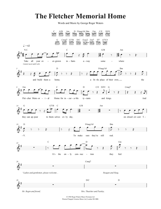 The Fletcher Memorial Home Sheet Music