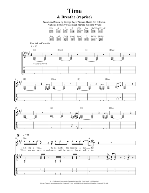 Time Sheet Music
