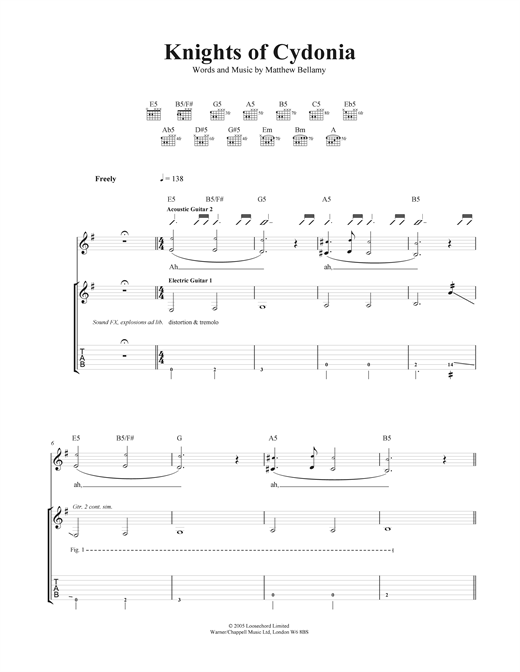 Knights Of Cydonia Sheet Music