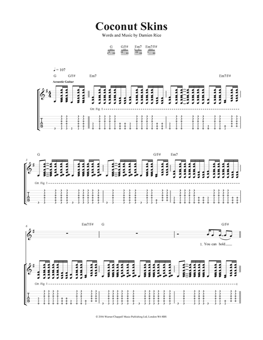 Coconut Skins Sheet Music