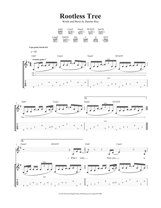 Rootless Tree Sheet Music
