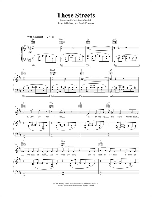These Streets Sheet Music