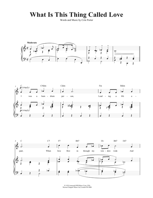 What Is This Thing Called Love? Sheet Music