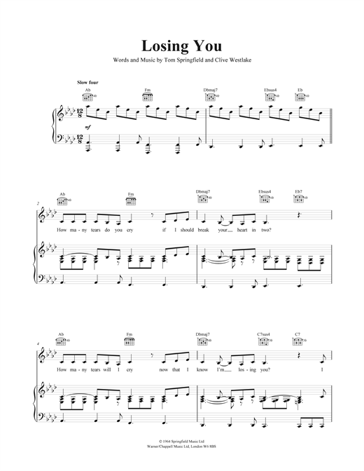 Losing You Sheet Music