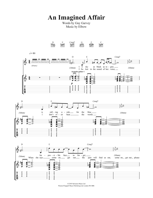 An Imagined Affair Sheet Music