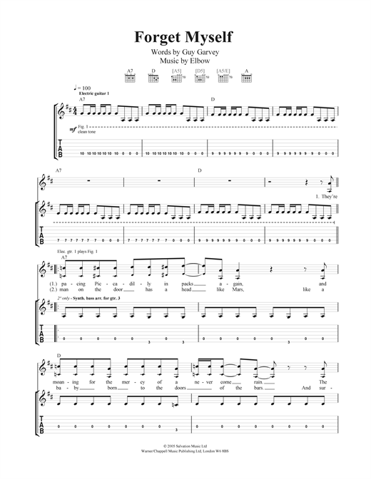 Forget Myself Sheet Music