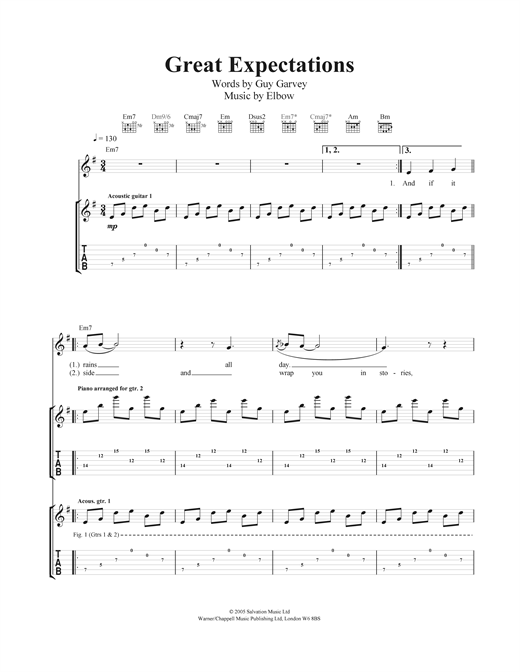 Great Expectations Sheet Music