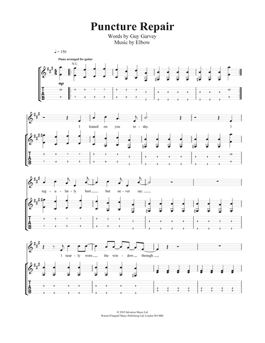 Puncture Repair Sheet Music