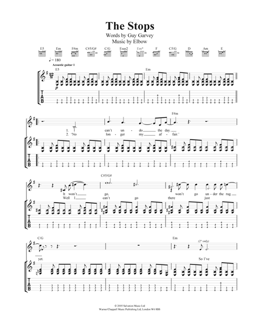 The Stops Sheet Music