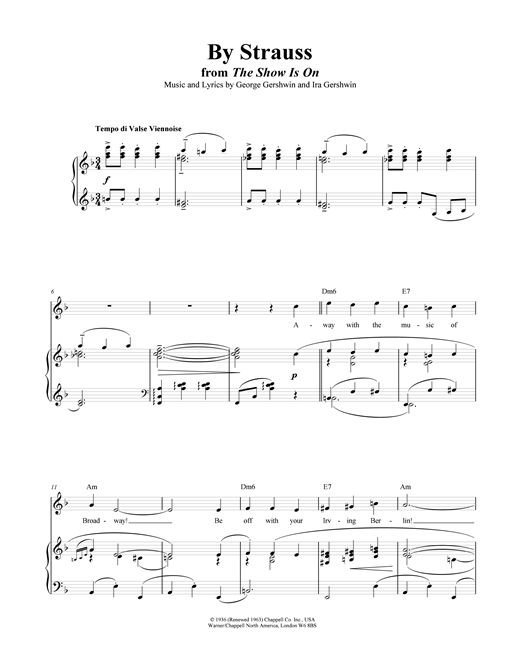By Strauss Sheet Music