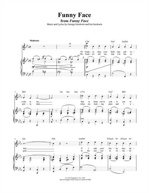 Funny Face Sheet Music