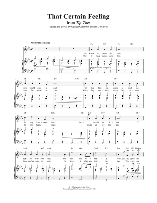 That Certain Feeling Sheet Music