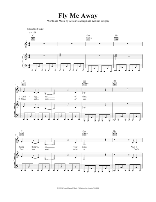 Fly Me Away Sheet Music