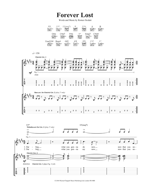 Forever Lost Sheet Music