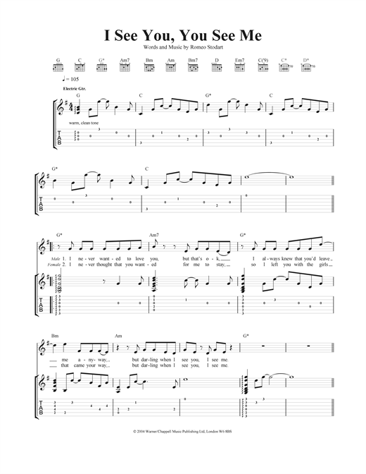 I See You, You See Me Sheet Music