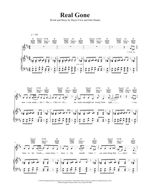 Real Gone Sheet Music