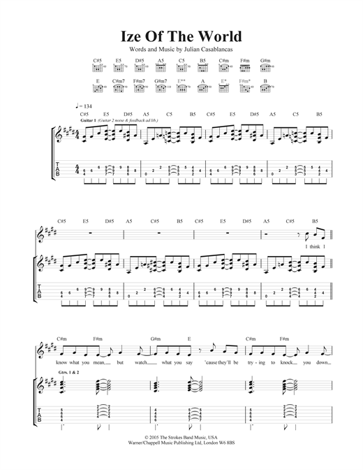 Ize Of The World Sheet Music