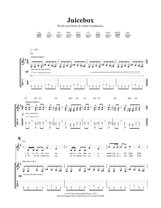 Juicebox Sheet Music