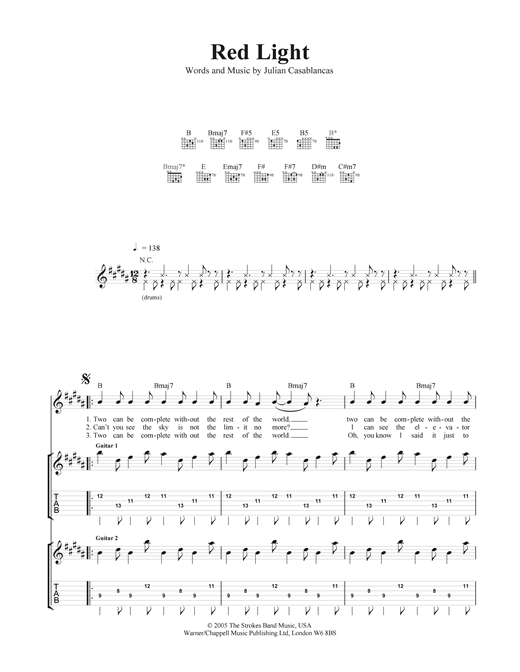 Red Light Sheet Music