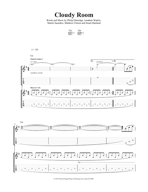 Cloudy Room Sheet Music