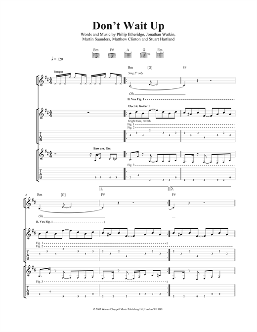 Don't Wait Up Sheet Music