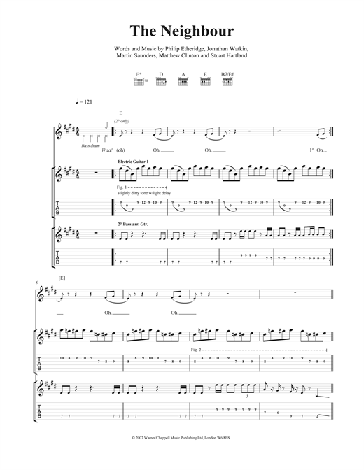 The Neighbour Sheet Music