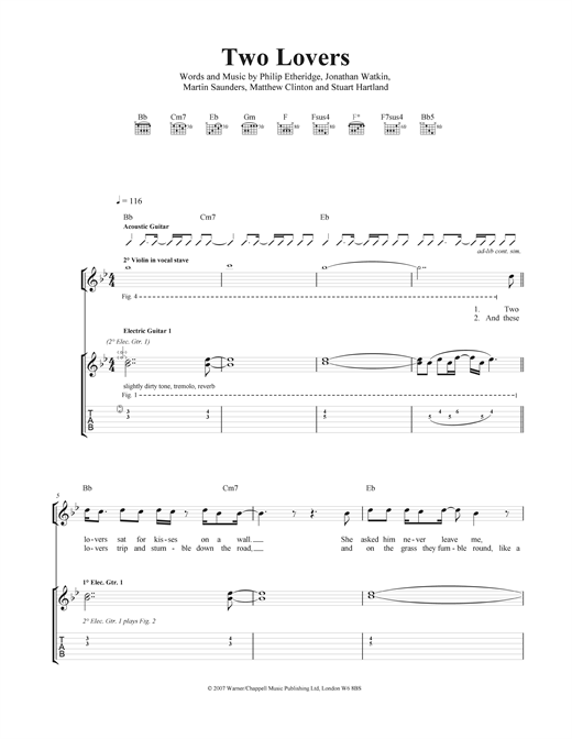 Two Lovers Sheet Music
