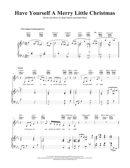 Have Yourself A Merry Little Christmas sheet music by Frank ...