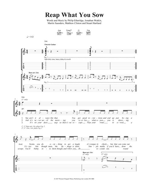 Reap What You Sow Sheet Music