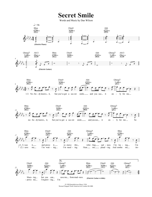 Secret Smile Sheet Music