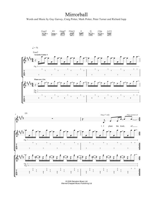 Mirrorball Sheet Music
