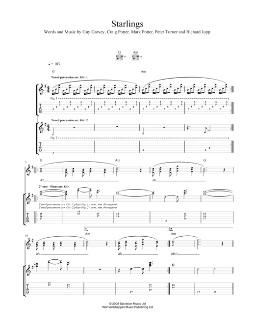 Starlings Sheet Music