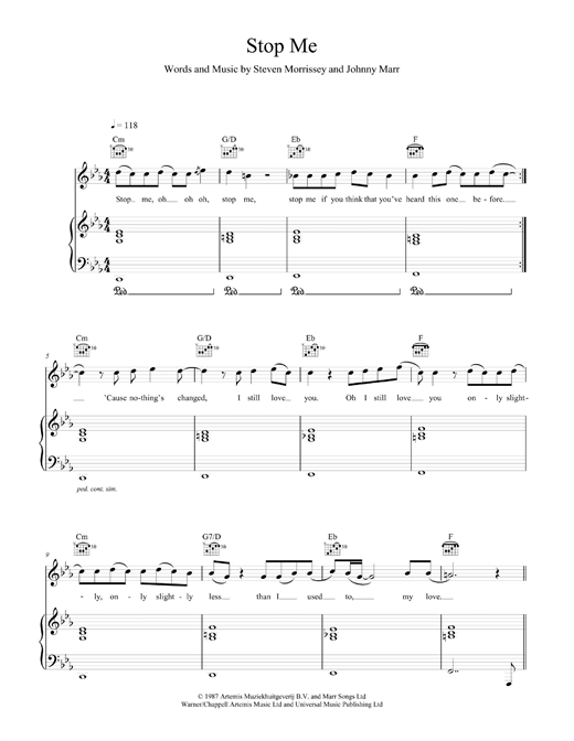 Stop Me (feat. Daniel Merriweather) Sheet Music