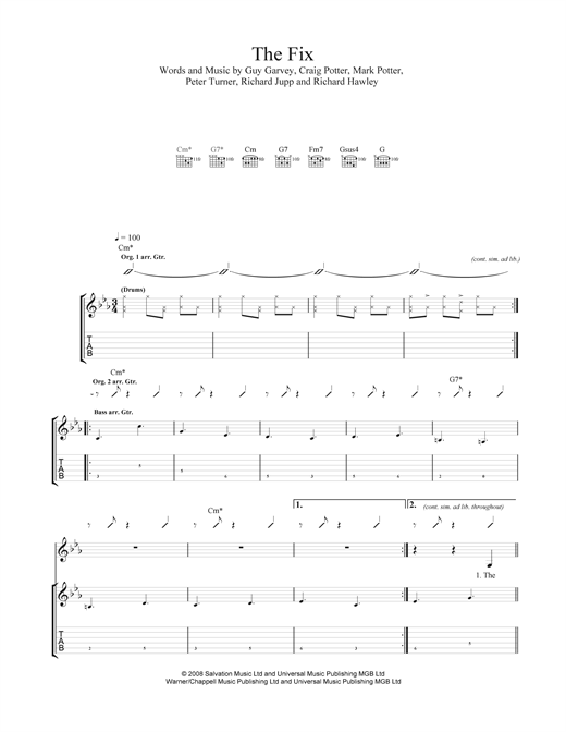 The Fix (feat. Richard Hawley) Sheet Music