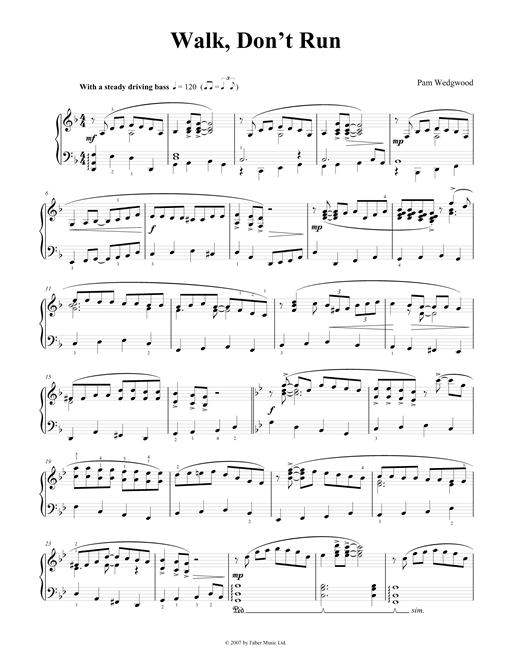 Walk Don't Run Sheet Music