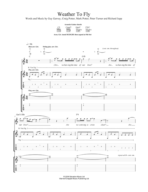 Weather To Fly Sheet Music