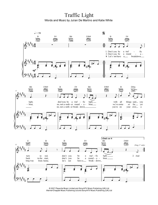 Traffic Light Sheet Music
