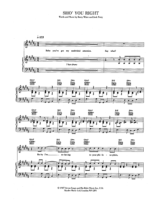 Sho' You Right Sheet Music