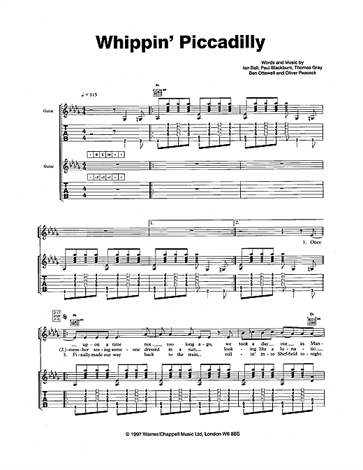 Whippin' Piccadilly Sheet Music