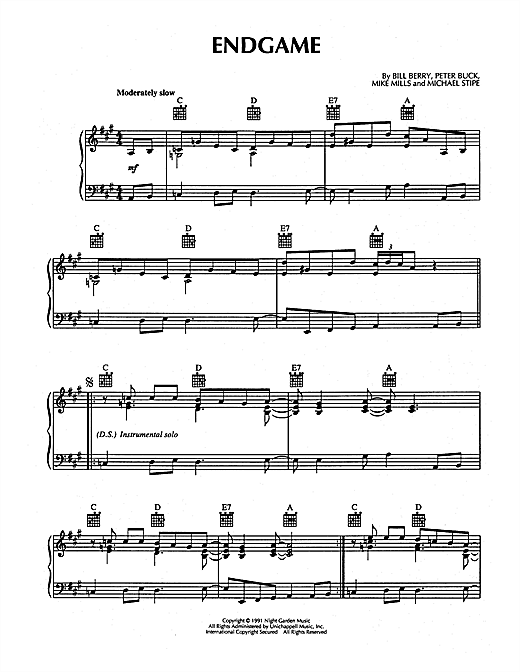 Endgame Sheet Music
