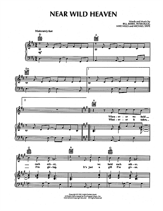 Near Wild Heaven Sheet Music