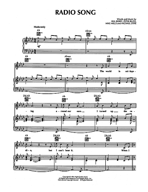 Radio Song Sheet Music
