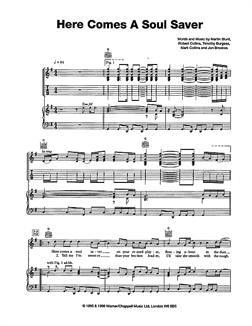 Here Comes A Soul Saver Sheet Music