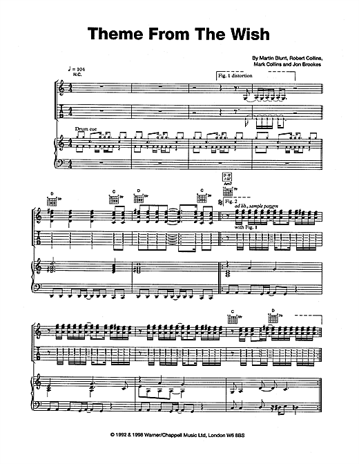 Theme From The Wish Sheet Music