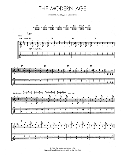 The Modern Age Sheet Music