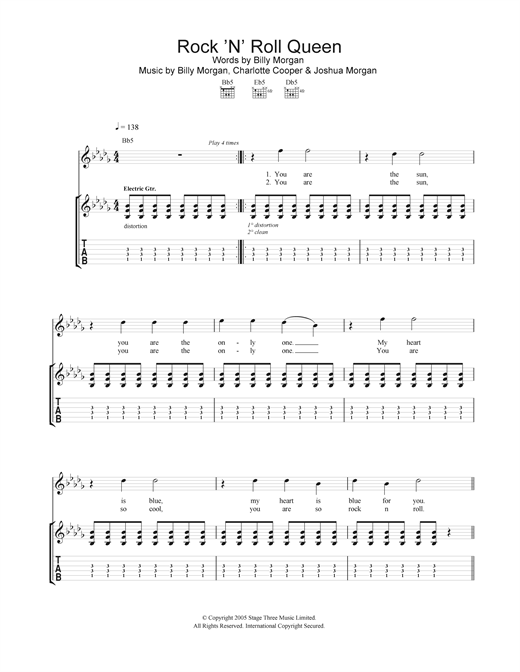 Rock 'N' Roll Queen Sheet Music